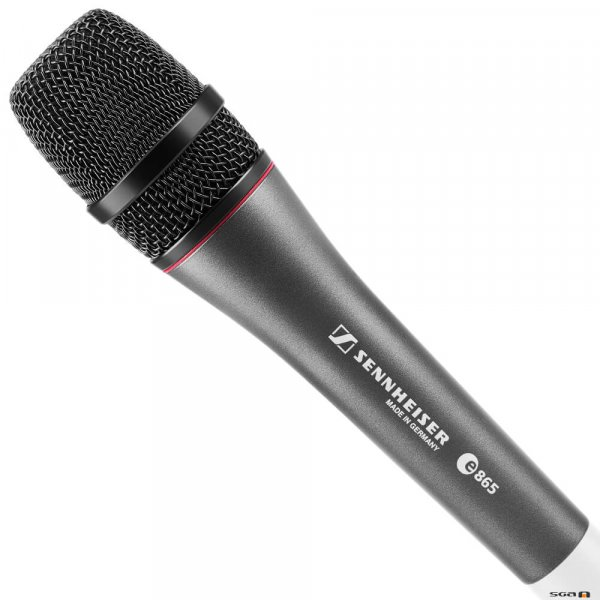 Sennheiser e865 electret condenser microphone with super-cardioid pickup