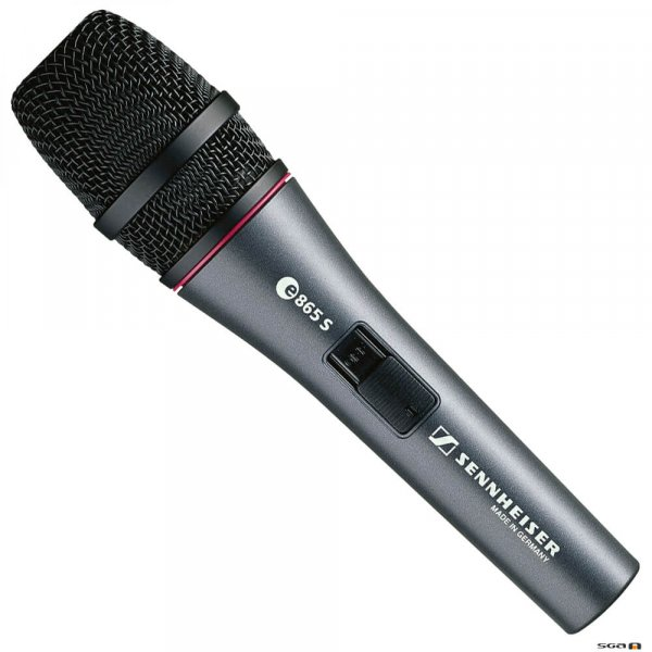 Sennheiser e865-S electret condenser microphone with super-cardioid pickup.