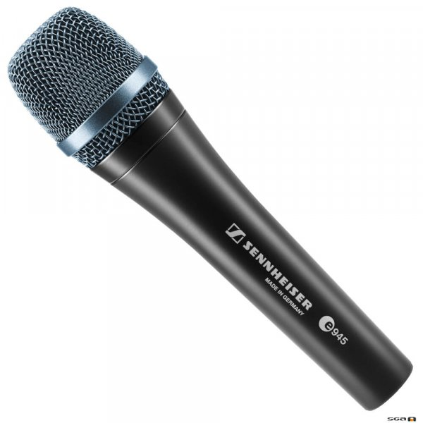 Sennheiser e945 Dynamic super-cardioid vocal corded microphone with a narrower pick-up pattern.