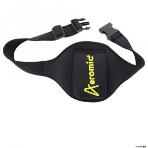 aeromic pouchbelt with yellow logo for fitness intructors
