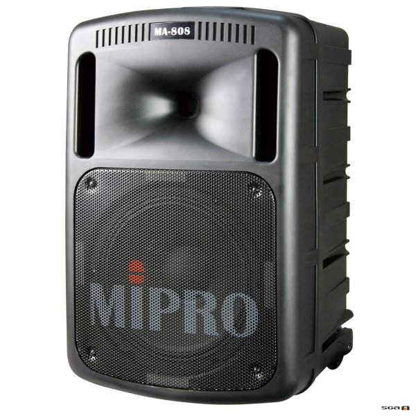 Mipro MA808PA portable pa speaker with corded microphone front view