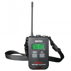 Mipro MTG-100T Bodypack Transmitter for Tour Guide/Assistive Listening System.