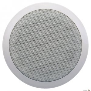 "Australian Monitor QF6CS Dual cone ceiling speaker, 6"" woofer. 100V Taps 10, 5, 2.5, 1.25 watts."