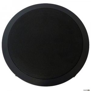 Australian Monitor QF8CSB Dual cone ceiling speaker, black baffle, 8 inch woofer. 100V Taps 15, 7.5, 3.75, 1.87 watts. 245mm cut-out.