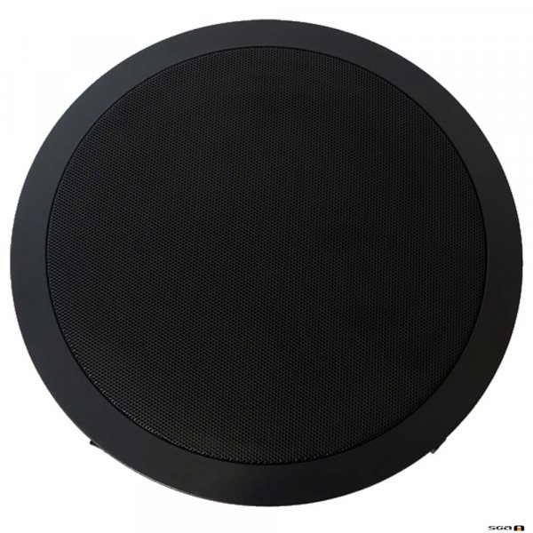 Australian Monitor QF8CSB Dual cone ceiling speaker, black baffle, 8 inch woofer. 100V Taps 15, 7.5, 3.75, 1.87 watts. 245mm cut-out.