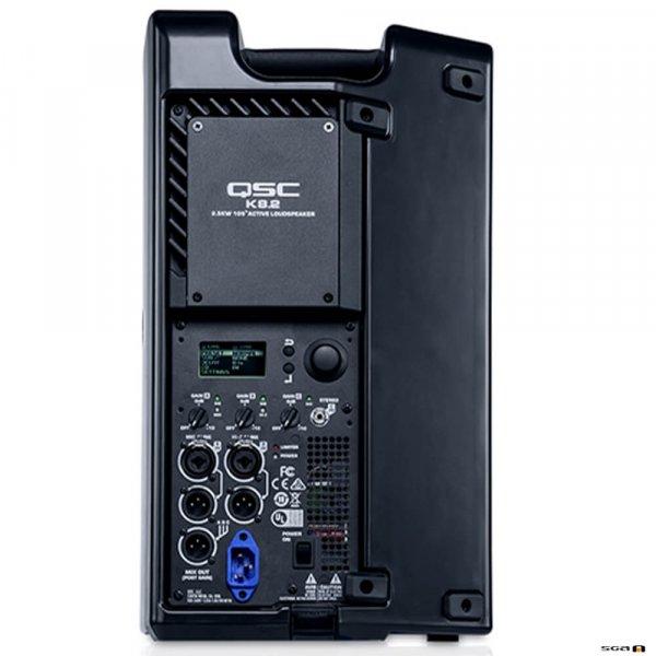 """QSC K8.2 Powered Speaker 8"""" 2-Way (2000W) Rear View"""
