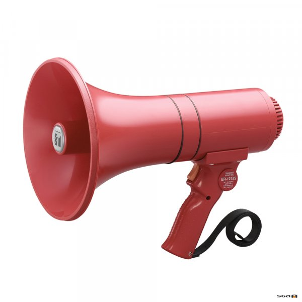 TOA ER1215S megaphone with siren - red
