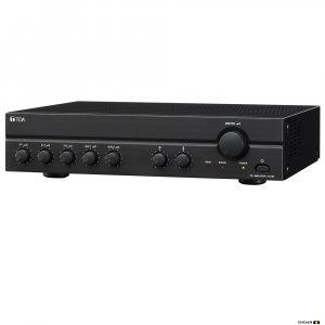 TOA A2030D 30W Class D Mixer Amplifier, 100V only output. 3x MIC inputs, Mic 1 VOX, 2x line.