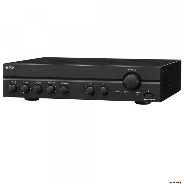 TOA A2060 60W Mixer Amplifier, 100V. 3x MIC inputs, 2x line. 70V & 4 Ohm outputs.