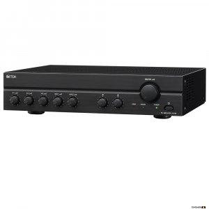 TOA A2060D 60W Class D Mixer Amplifier, 100V only output. 3x MIC, Mic 1 VOX, 2x line.