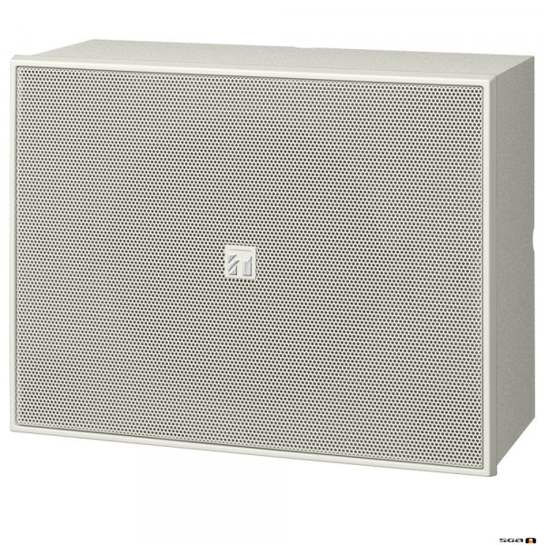 """TOA BS678 6W 6"""" Twin Cone Wood Box/Metal Grille, 100V line - white"""