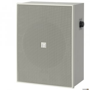 "TOA BS678T 6W 6"" Twin Cone Wood Box/Metal Grille, with Attenuator, 100V line - white"