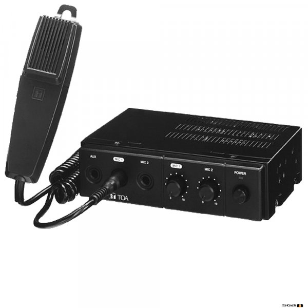 TOA CA160 60W Mobile PA Amplifier, 12V DC Power, includes microphone