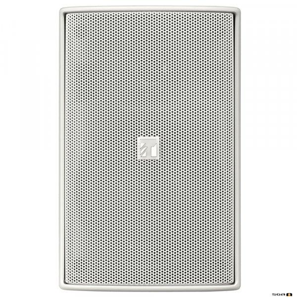 TOA F1300WTWP 30W White Speaker, IPx4, 2-way Bass Reflex, 100V line only. 80Hz-20kHz, 90dB