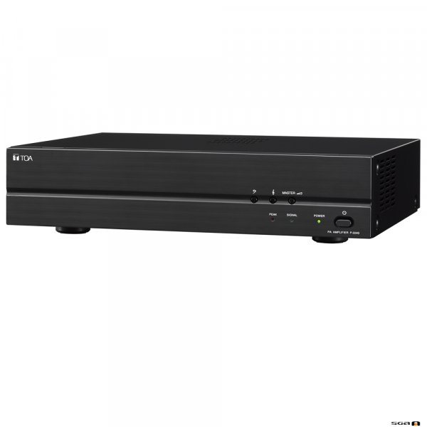 TOA P2240 240W Power Amplifier, both 100V or line input, 100V, 70V & 4 Ohm outputs.