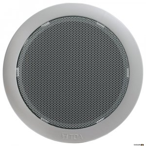 "TOA PC648R 6W 5"" Single Cone Speaker, Metal Grille, WHITE"