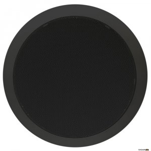 "TOA PC668BK 15W 8"" Dual Cone EVAC Speaker with Metal Grille, Black"