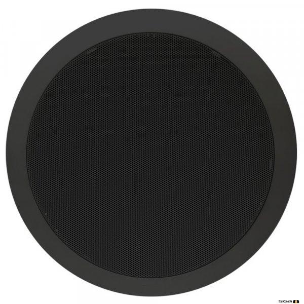"TOA PC668BK 15W 8"" Dual Cone EVAC Speaker with Metal Grille, Black"