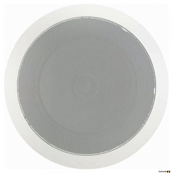 """TOA PC668RC 15W 8"""" Dual Cone EVAC Speaker with Metal Grille"""