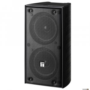 TOA TZ206BWP 20W Black Column Speaker, 2x 100 mm drivers, 100V line 150Hz-13kHz, 89dB - IP65
