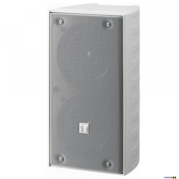 TOA TZ206WWP 20W White Column Speaker, 2x 100 mm drivers, 100V line 150Hz-13kHz, 89dB - IP65