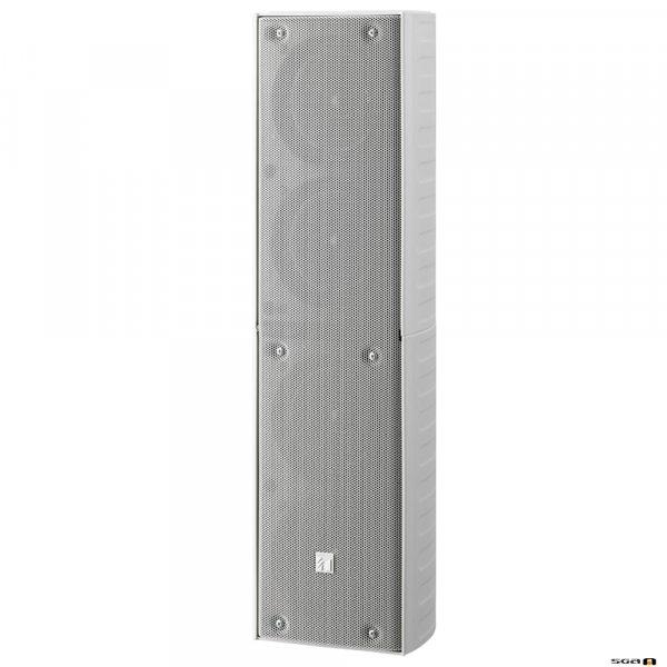 TOA TZ406WWP 40W White Column Speaker, 4x 100 mm drivers, 100V line 150Hz-13kHz, 92dB - IP65