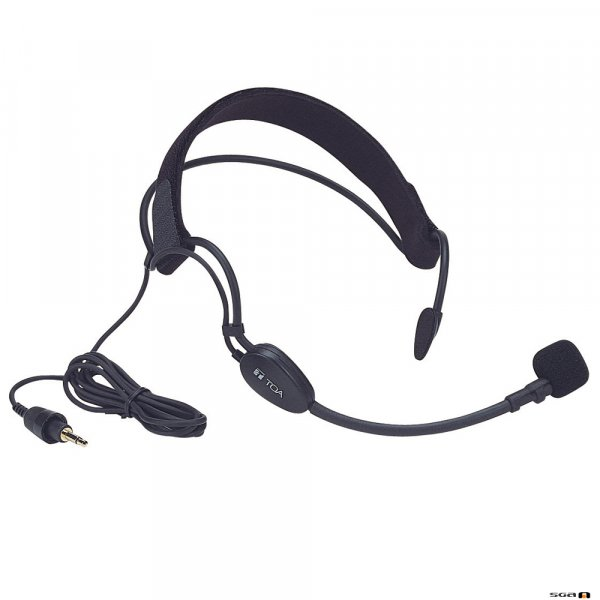 TOA WH4000A Aerobics Style Headset for TOA Beltpack Transmitter, uni-directional.