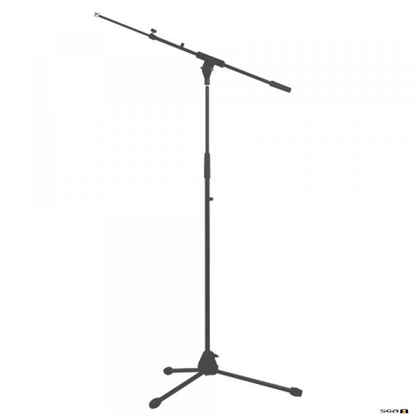 Australian Monitor ATC203 Microphone Stand. Floor tripod, telescopic, 93-163 cm. Includes telescopic boom arm. Black.