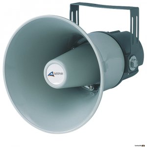 Australian Monitor ATC30 Horn, 30W, IP66 Rated Horn. 30W with 100V Taps 30, 15, 7.7, 4W & 8ohm. Fitted with supervisory capacitor. IP66 rated