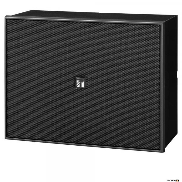 """TOA BS678BT 6W 6"""" Twin Cone Wood Box/Metal Grille, 100V line with attenuator - black"""