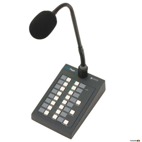 Australian Monitor DPJR16M DIGIPAGE JUNIOR paging station is a simple paging front end for the DIGIPAGE JUNIOR system