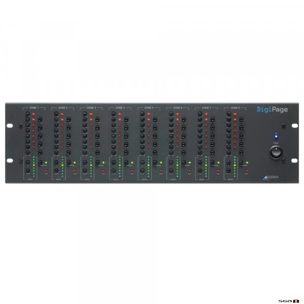 Australian Monitor DigiPage is a 3 rack unit multi zone paging and source selection system