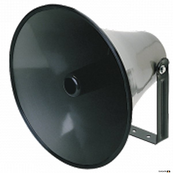 Australian Monitor H16 Round flare for use with HDT35 and HDT60 high output horn drivers. Horn flare. Circular aluminium, 41cm diameter