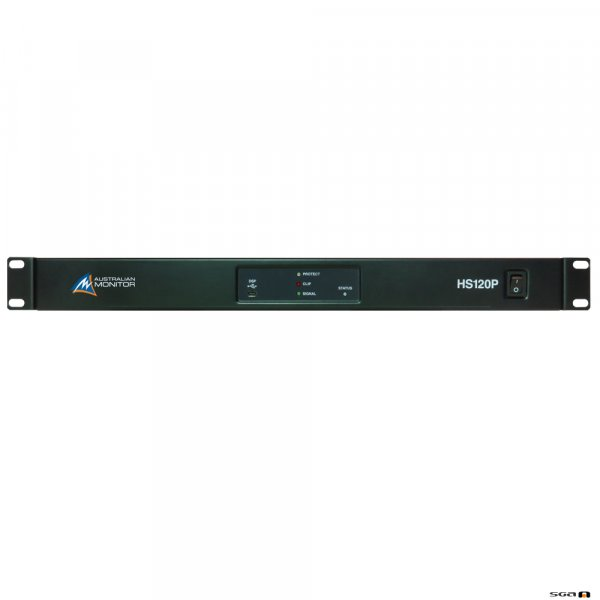 Australian Monitor HS120P 1 x 120W Power Amplifier, USB/RS232 Control with mini DSP.