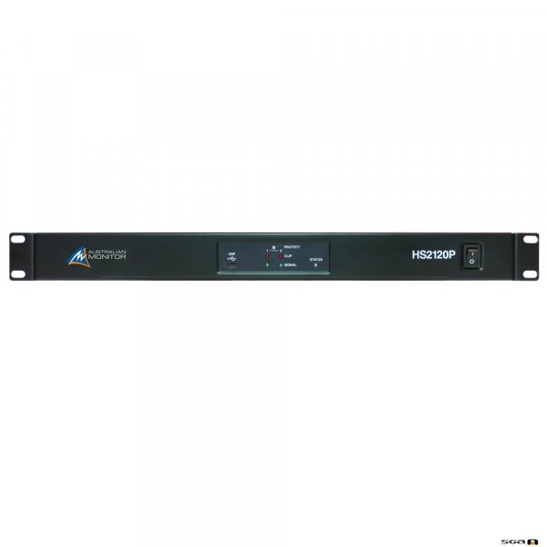 Australian Monitor HS2120P 2 x 120W Power Amplifier USB/RS232 Control with mini DSP