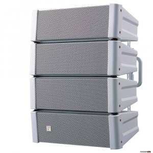 TOA HX5W 600W White Variable Dispersion Spkr, Bass Reflex, 8 Ohm, 70Hz-20kHz, 96-99dB, designed for indoor use.