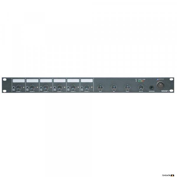 Australian Monitor MX61 6 Channel 1RU mono mixer. six mic/line inputs, one mono output.