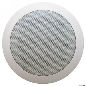 "Australian Monitor QF5CS  Dual cone ceiling speaker, 5"" woofer. 100V Taps 6, 3, 1.5, 0.75 watts."