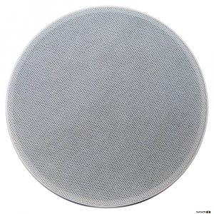 Australian Monitor QFC8CS 2 way coaxial ceiling speaker, 8 inch woofer & 25mm tweeter. 100V Taps 30, 15, 7.5, 3.75 watts. 248mm cut-out.