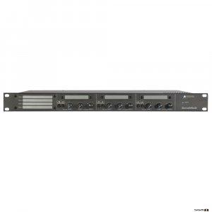 Australian Monitor ZONEMIX3 Zone mixer 4 stereo & 2 mic/line inputs, 3 stereo zones. 5 stage Eq per zone