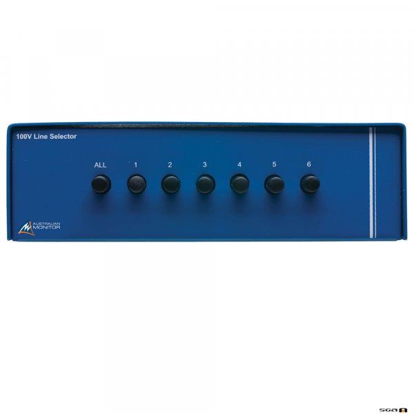 Australian Monitor ZONEDOUT Six Zone Speaker Selector. One 100V speaker input, six 100V speaker outputs.
