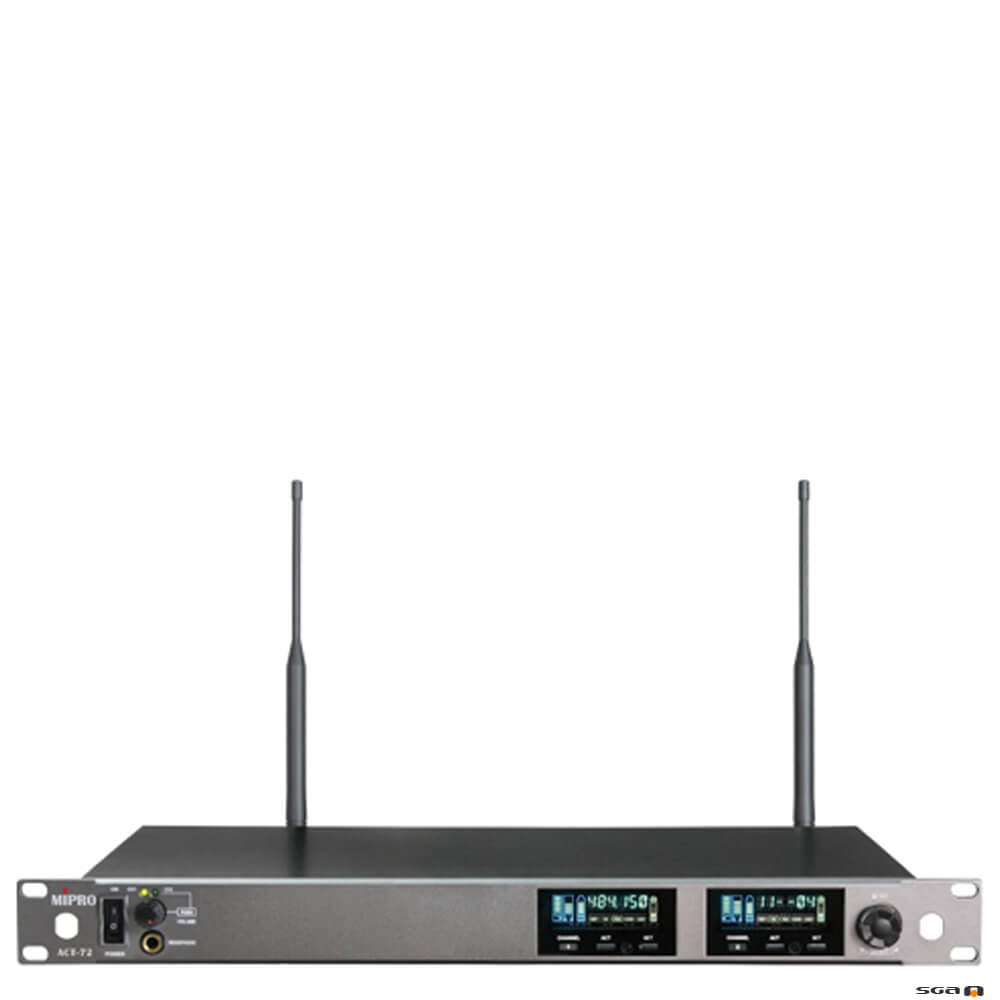 MIPRO ACT72 Dual Channel Wideband Diversity Receiver.