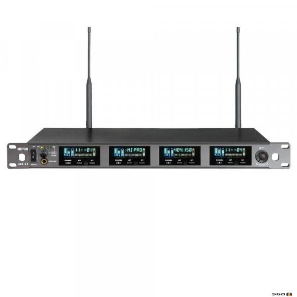 Mipro ACT74 Wideband True Diversity Quad Wireless Receiver