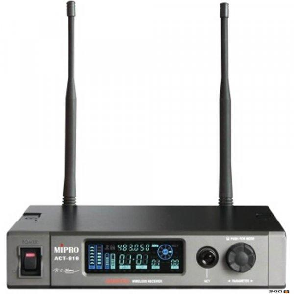 MIPRO ACT818 Wideband Digital Diversity Receiver. 1/2 RU.