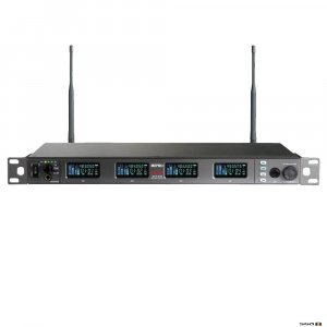 Mipro ACT848 Wideband Digital Diversity Quad Wireless Receiver front