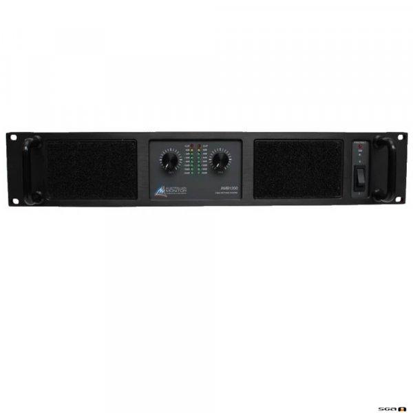 Australian Monitor AMB1200 Power Amplifier. 2 x 600w @ 4ohms, 400w @ 8ohms. 240VAC 2RU