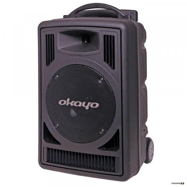 oKAYO c7202c portable pa system with retractable handle and wheels