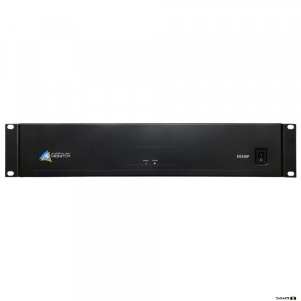 Australian Monitor ES250P power amplifier, 120 watts at 100 volt or 4 ohm, 2RU