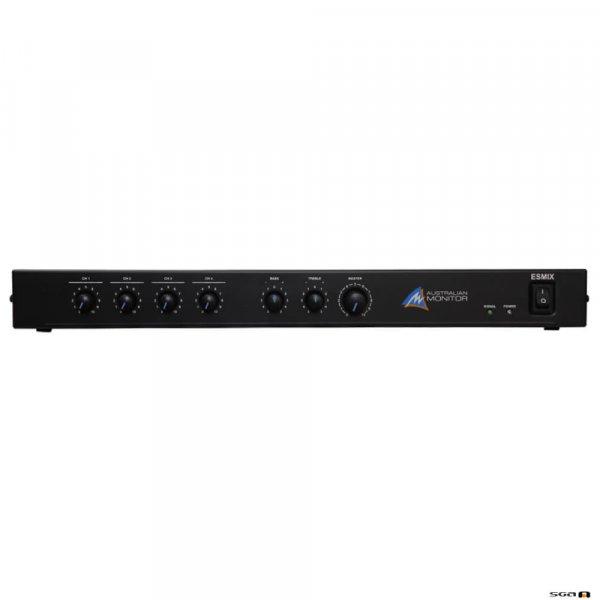 Australian Monitor ESMIX featuring 2 channels of VOX muting an integrated tone generator. 4 x XLR mic/dual RCA inputs, record outputs & 12V phantom power.