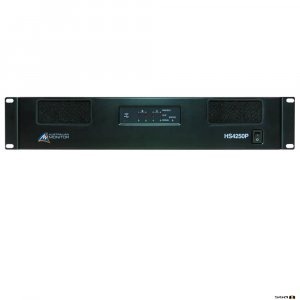 Australian Monitor HS4120 Power Amplifier: 4 x 120 watts, 100 volt line or low impedance with USB/RS232 control with mini DSP
